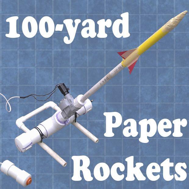 100-Yard Paper Rocket Launcher