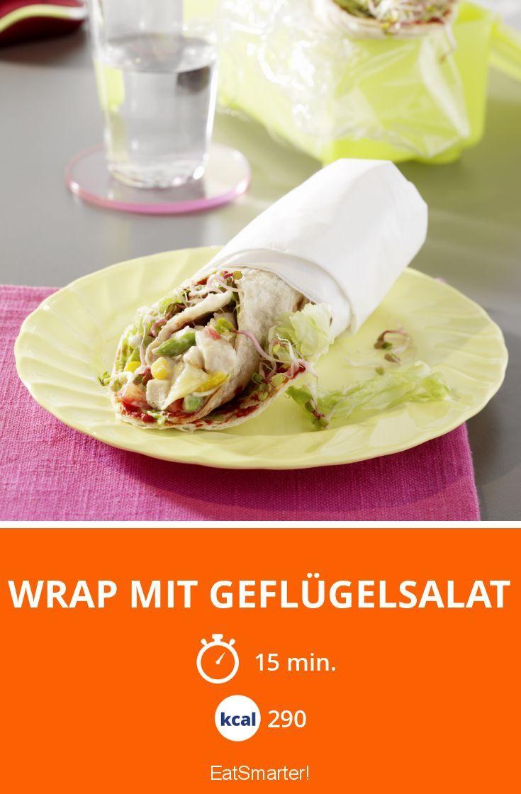Wrap mit Geflügelsalat