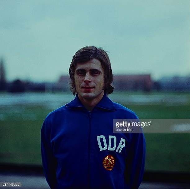1974 FIFA World Cup in Germany Lothar Kurbjuweit * Football player member of the East German national team Portrait of Lothar Kurbjuweit before the...