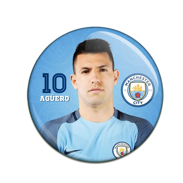 Manchester City F.C. Button Badge Sergio Aguero - Rs. 99 Official#Football #Merchandisefrom#EPL