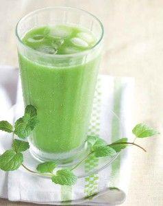 Sumo verde para o café da manhã: