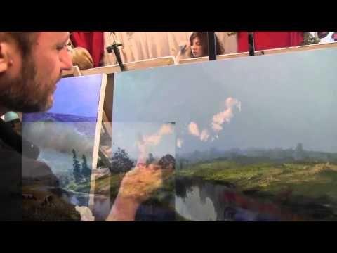 Пейзаж Болгарии , живопись маслом, Сахаров - YouTube