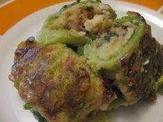 Fagottini di cavolo verza con patate e funghi secchi