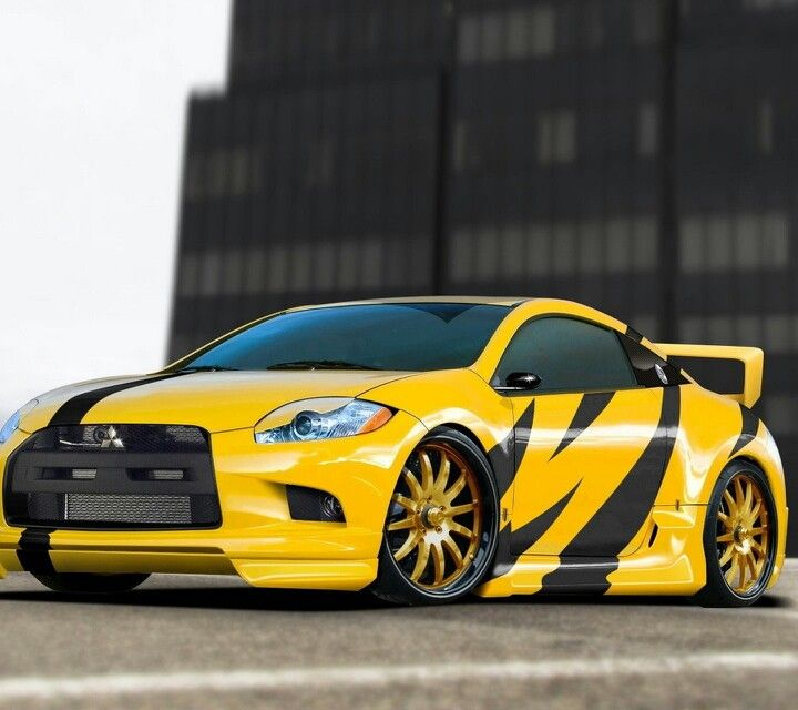 mitsubishi with custom paint eclipse pinterest cars automobile and yellow