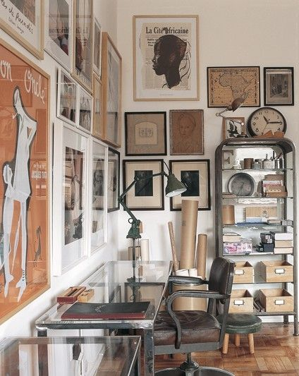 Oficina con arte en las paredes  #oficina #Compra #Arriendo metrocuadrado.com