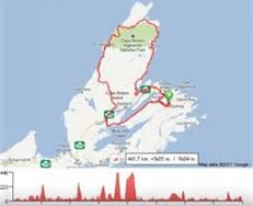 Cabot Trail Map - Bing Images