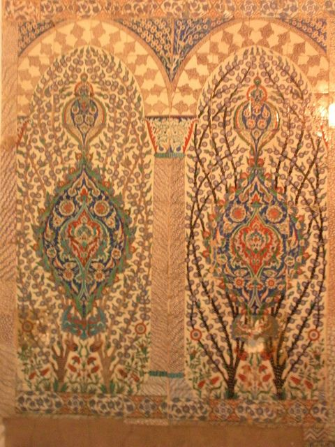 Turkish tile work in the harem @ Topkapi Palace, Istanbul