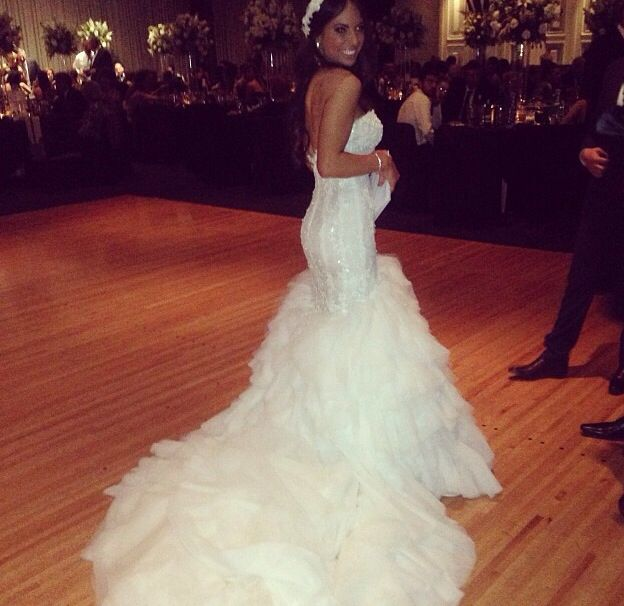 Viktoria Novak head piece. Steven Khalil dress on my wedding night at the brighton international amazing