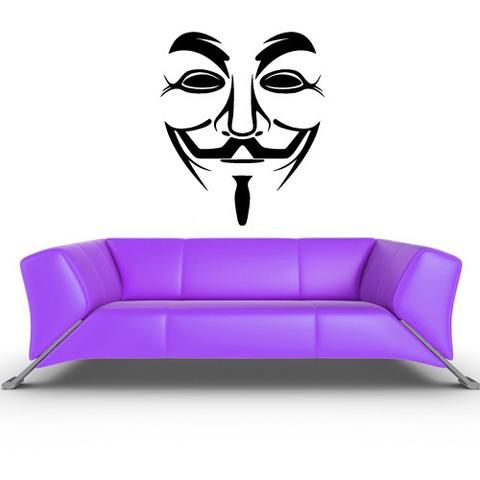 Wall Decal Sticker Anonymous Mask Face Hackers  z208