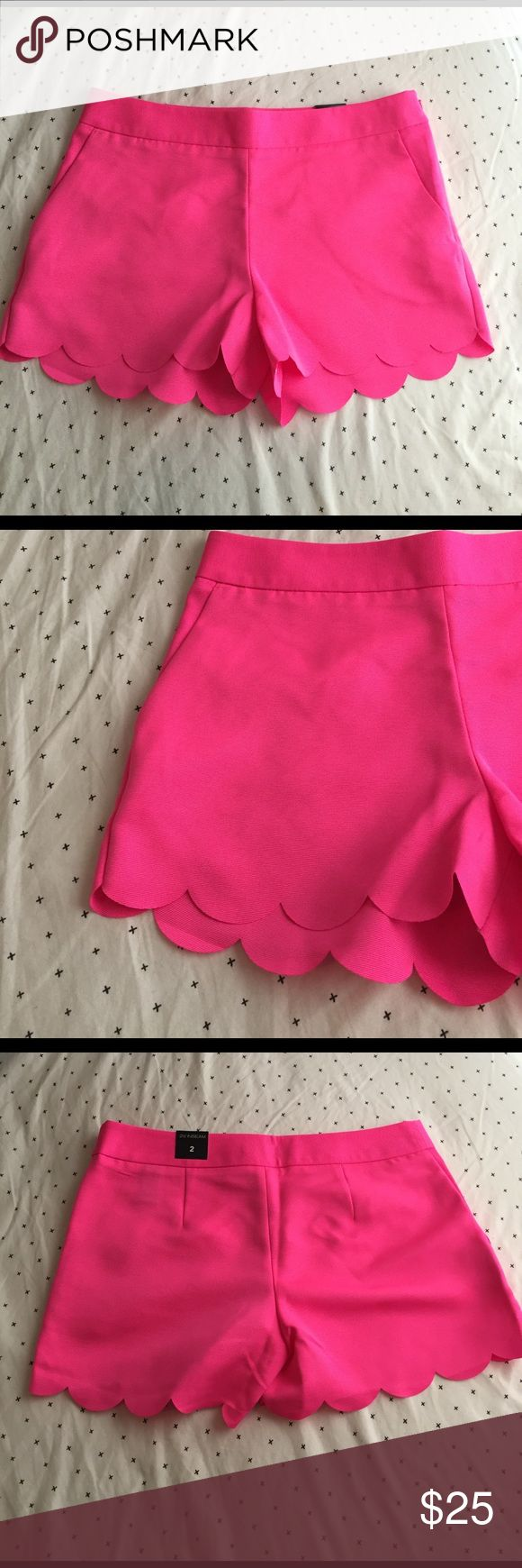 Hot pink scalloped shorts Bundles available! Express Shorts