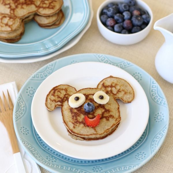 Banana Pancake Buddies ... These whimsically delicious grain-free, dairy-free, Coconut Flour Pancakes are such a treat, with or without the funny faces. They're a great way to rediscover a family tradition that many of us grew up enjoying – with a healthy, new twist of course!