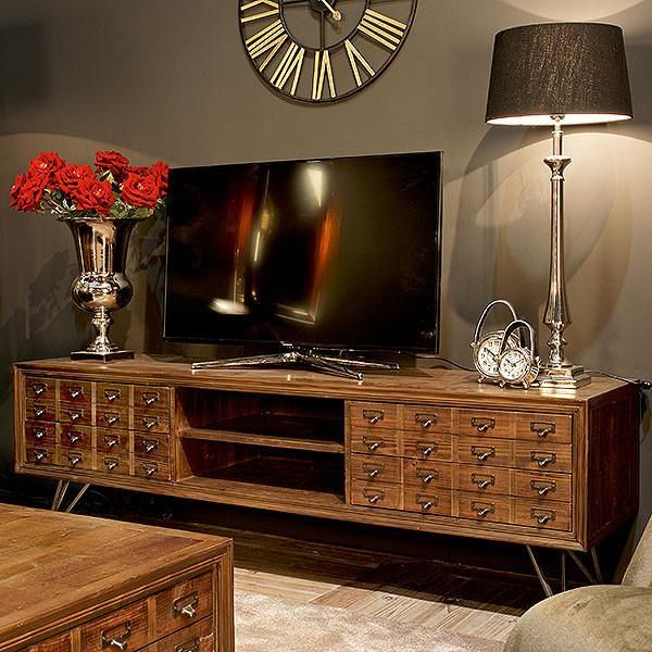 Barclay Reclaimed Wood TV Cabinet In Living Room With Reclaimed Wood Coffee  Table Part 97