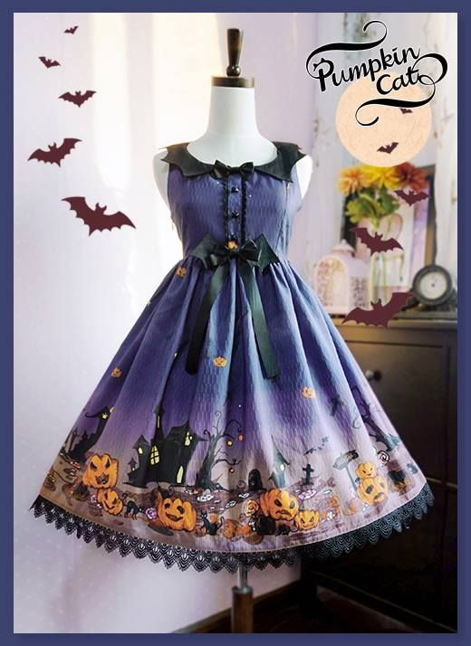 """UPDATE: Pumpkin Cat™ has sold out """"Size L"""" of [✙~Halloween Carnival~ Lolita dresses✙] at their Taobao store. However, we've already stocked several size L high waist and low waist dresses from them, so you still can get them from us >>> http://www.my-lolita-dress.com/newly-added-lolita-items-this-week/for-halloween-pumpkin-cat-halloween-carnival-series"""