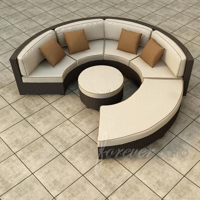 Forever Patio Hampton 6 Person Resin Wicker Patio Sectional Set   Chocolate  : Ultimate Patio