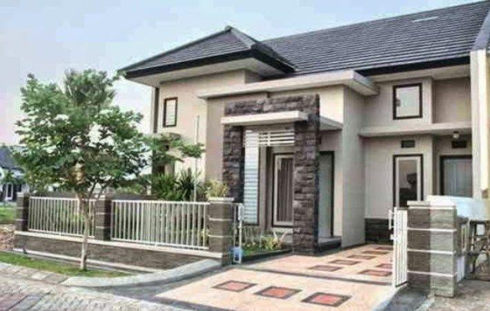 gambar teras rumah minimalis kombinasi batu alam