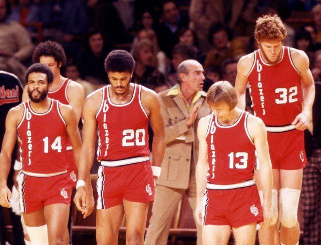 Lionel Hollins, Maurice Lucas, Jack Ramsey, Dave Twardzik and Bill Walton