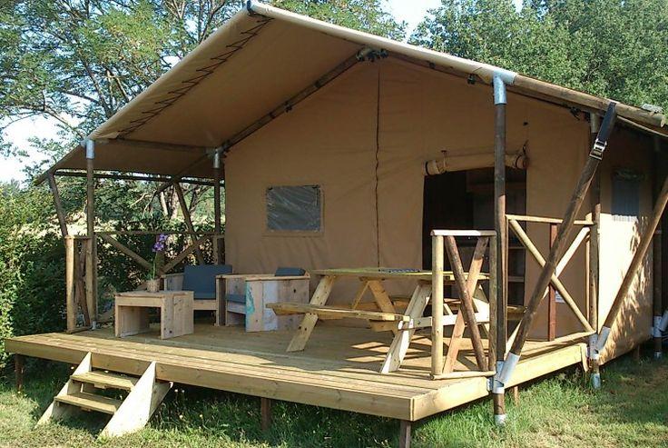 *** Camping Laspatrasses Verhuur luxe camping Dordogne in Frankrijk goedkope | Camping Dordogne 4 étoiles  Zwembad met glijbaan, speeltuin   €1543/ 2 weken (Lodge met badkamer)