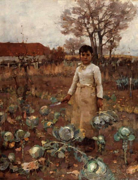 James Guthrie, A Hind's Daughter, 1883, Canvas, 91.5 x 76.2, National Galleries of Scotland, Edinburgh.: