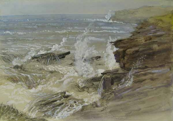 Samuel Palmer ,not what we normally see from Palmer ,its much less mystical and more of an angry painting ,with the thrashing ,choppy waves dominating the shoreline .I'll be honest though , i don't mind this simpler side to Palmer atall,its quite humbling to see this different type of painting.