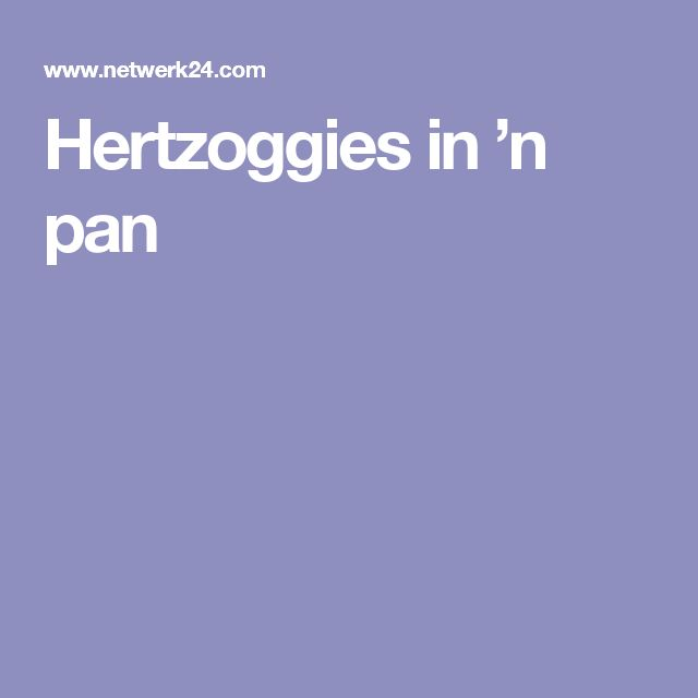 Hertzoggies in 'n pan