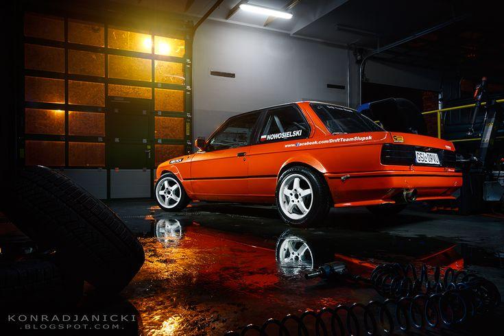 BMW E30 Drift Car Orange