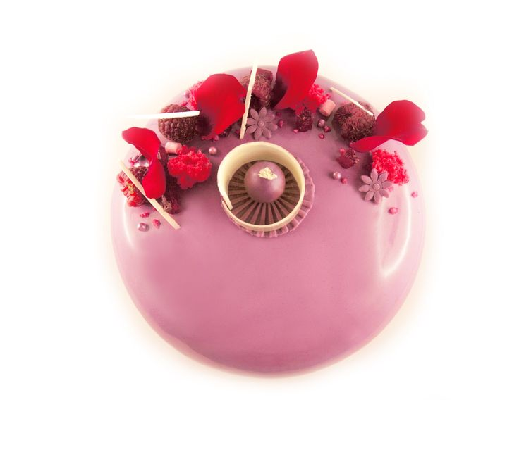 entremet framboise vanille | Création By Cecile