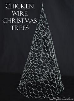 christmas tree chicken wire - Buscar con Google