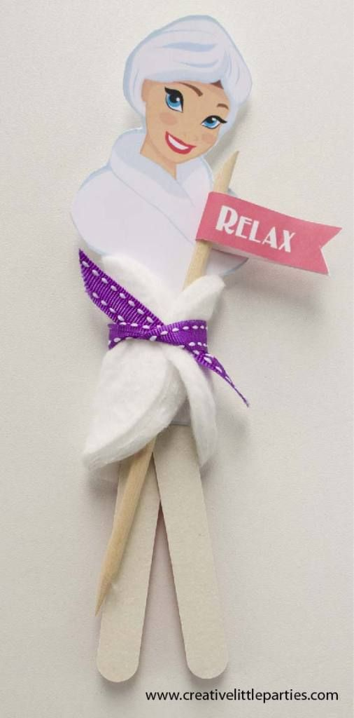 Spa party; Nail File Spa Gift Printable. Great as favors