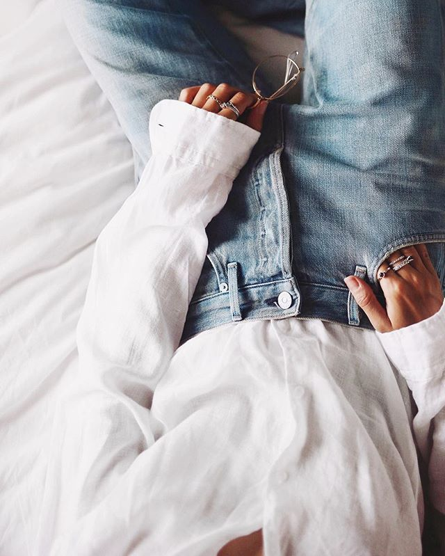 Soft flowy white & light denim days