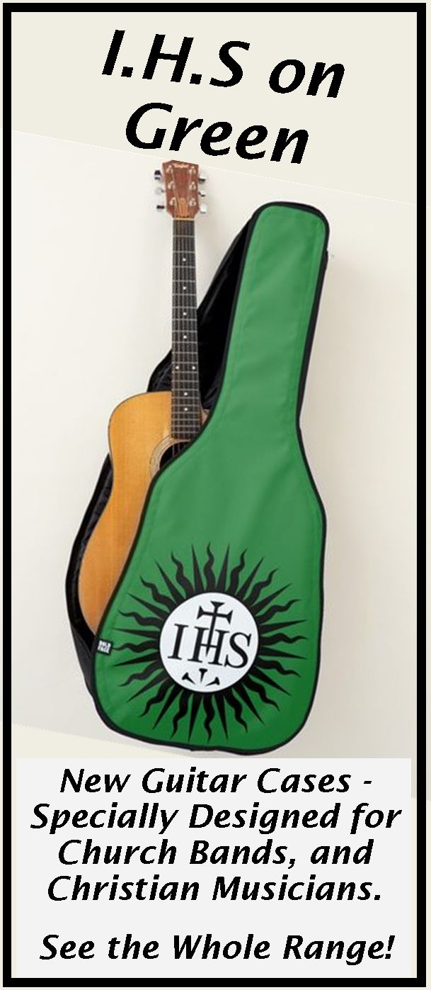 New Range of Guitar Cases specially designed for Church bands and musicians, or any Christian singing praises to God. . . . Some with a Decorative Cross, others with Bible verses,  IHS logo's and more. . . . So whether you are playing  music for the Church Band, modern hymns or Gospel singing groups, these Cases for your Acoustic Guitars and Electric Guitars are just the thing!  . . . . . Visit to see them all - you'll find AT LEAST one you really love!