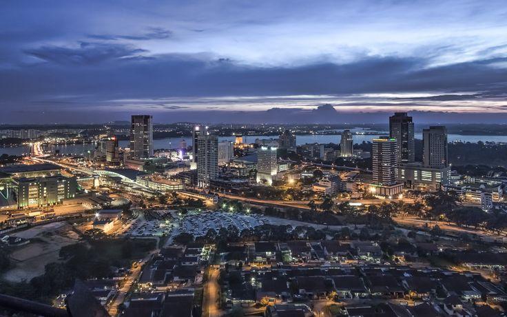 The Johor Bahru skyline. Plenty of bus trips every day from #Singapore to #Johor #Bahru at Easybook.com.
