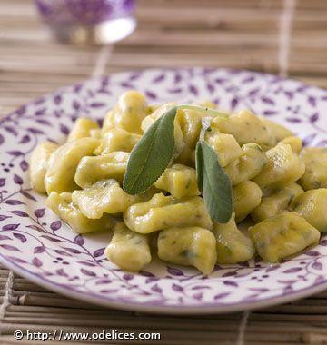 Photo de la recette : Gnocchis au safran et à la sauge
