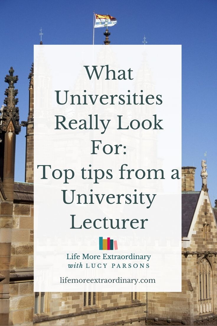 What Universities Actually Look For: High ideas from a College Lecturer