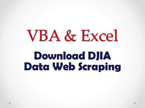 VBA Project Download All DJIA Stock Information Data