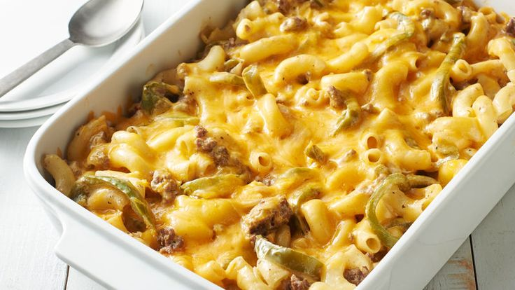 Watching your waistline doesn't mean you have to miss out on comfort food! Our lightened-up version of mac and cheese still features all of the creaminess you've come to expect with your mac, but does it in less than 400 calories per serving, AND adds a Philly Cheese Steak spin.