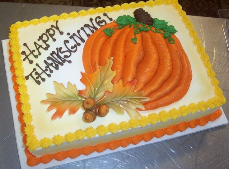 Cake Decorating Ideas Thanksgiving : 34 best Thanksgiving Cake Inspiration images on Pinterest