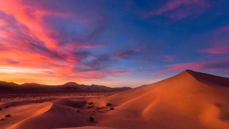 Скачать обои дюны, природа, небо, пустыня, песок, раздел пейзажи в разрешении 1920x1080