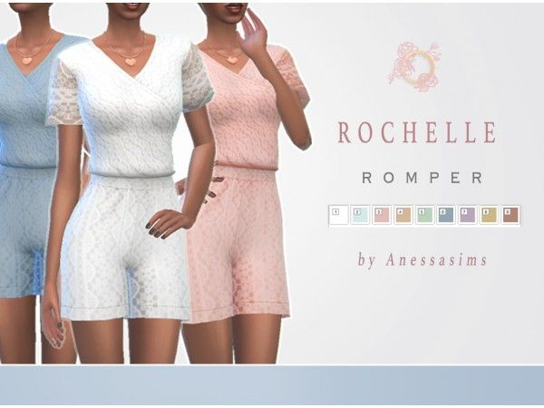 Anessasims Rochelle Romper - The Sims 4 Download - SimsDom
