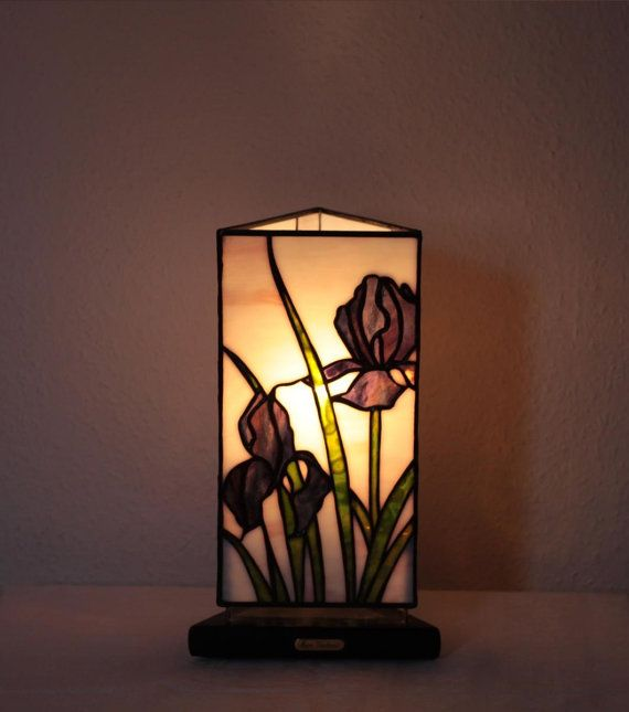 "Our stained glass tiffany style table lamp: ""Iris"" www.mana-glaskunst.de"