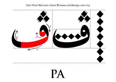 Ps: This is our پ :) Tutoriel 6: Khat Nasakh ~ Seni Khat Warisan Islam   Calligraphie islamique