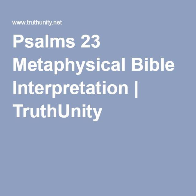 Psalms 23 Metaphysical Bible Interpretation   TruthUnity
