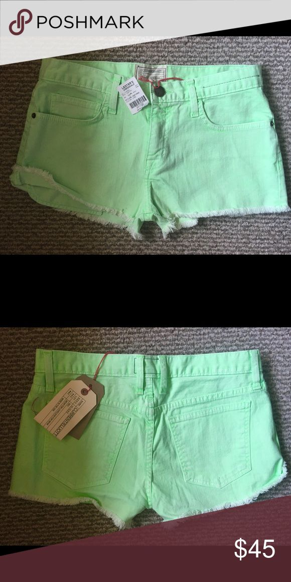 Current Elliot  , lime green shorts Current Elliot vintage inspired, lime green shorts.W- 25 Current/Elliott Shorts Jean Shorts