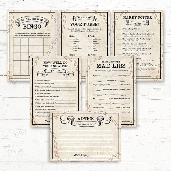 Harry Potter Bridal Shower Games Package  6 by CrissyDesignCo