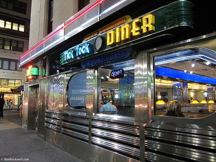 Neon Light, Tick Tock Diner, New York City, 10:20 PM.