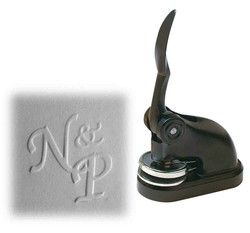 Pince à sec, Pince à gaufrer, 2 initiales personnalisée, 2 initiales gravée, à grenoble amalgame - Voir en grand