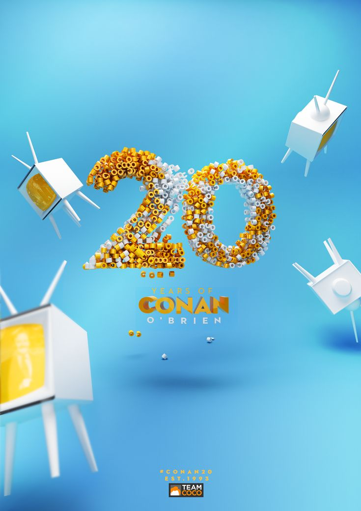 My small tribute to the 20 year anniversary of the unparalleled Conan O'brien.
