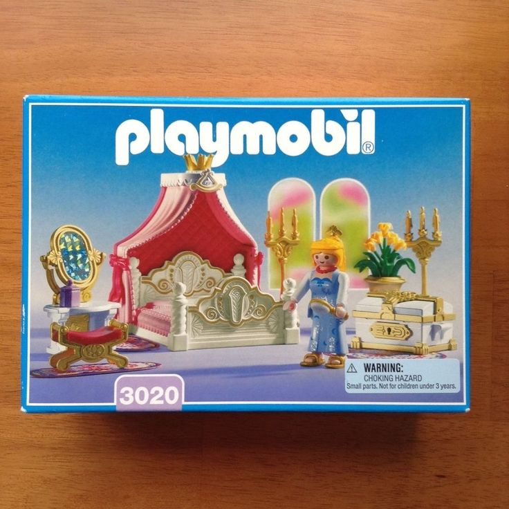 New Playmobil 3020 Royal Bed Chamber Princess Bedroom Vanity Chest 3019 Castle