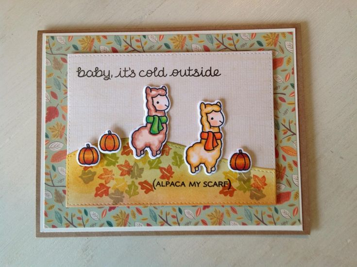Alpaca my scarf by Julene23 - Cards and Paper Crafts at Splitcoaststampers