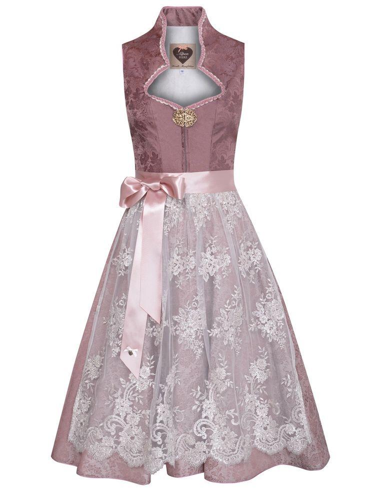 Alpenherz Altrosa Dirndl Mit Stehkragen Annabell Altrosa Dirndl Dress Dirndl Pink Cocktail Dress