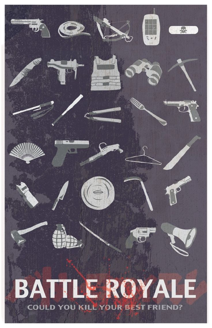 Battle Royale and all the weapons provided